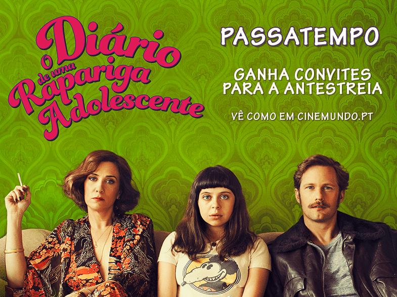 """PASSATEMPO CONVITES DUPLOS ANTESTREIA """"DIÁRIO DE UMA RAPARIGA ADOLESCENTE"""""""