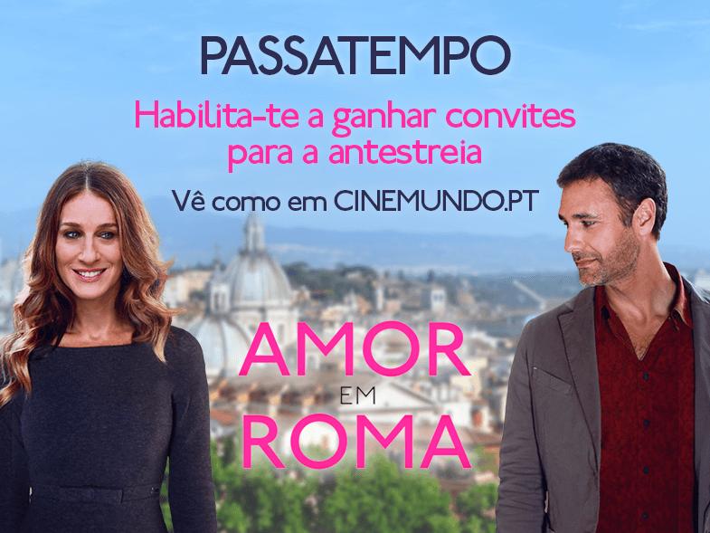 """PASSATEMPO CONVITES DUPLOS ANTESTREIA """"AMOR EM ROMA"""""""