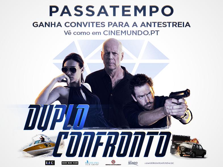 "PASSATEMPO CONVITES DUPLOS ANTESTREIA ""DUPLO CONFRONTO"""