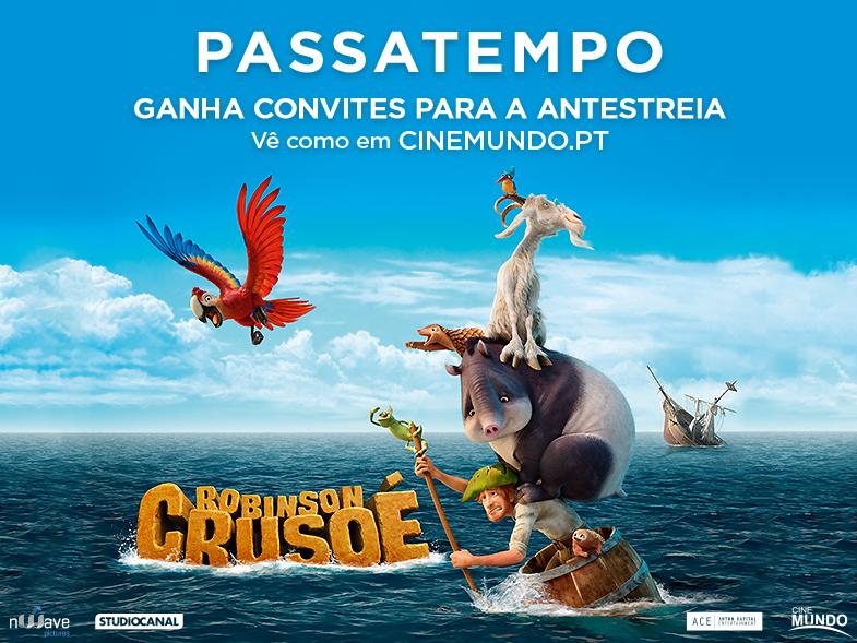 "PASSATEMPO CONVITES DUPLOS ANTESTREIA ""ROBINSON CRUSOÉ"""