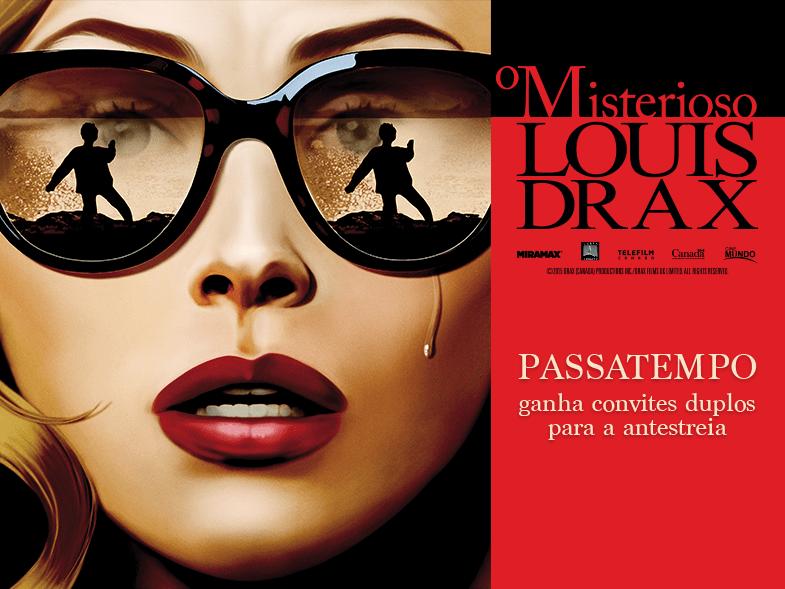 """PASSATEMPO CONVITES DUPLOS ANTESTREIA """"O MISTERIOSO LOUIS DRAX"""""""