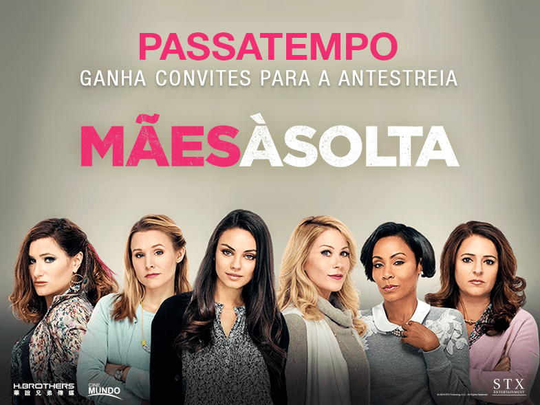 """PASSATEMPO CONVITES DUPLOS ANTESTREIA """"MÃES À SOLTA"""""""