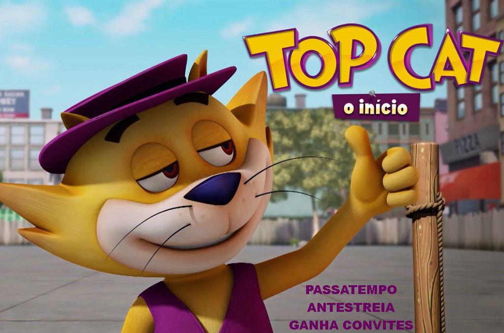 """PASSATEMPO CONVITES TRIPLOS ANTESTREIA """"TOP CAT O INÍCIO"""""""
